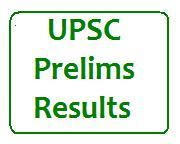 UPSC Prelims Results