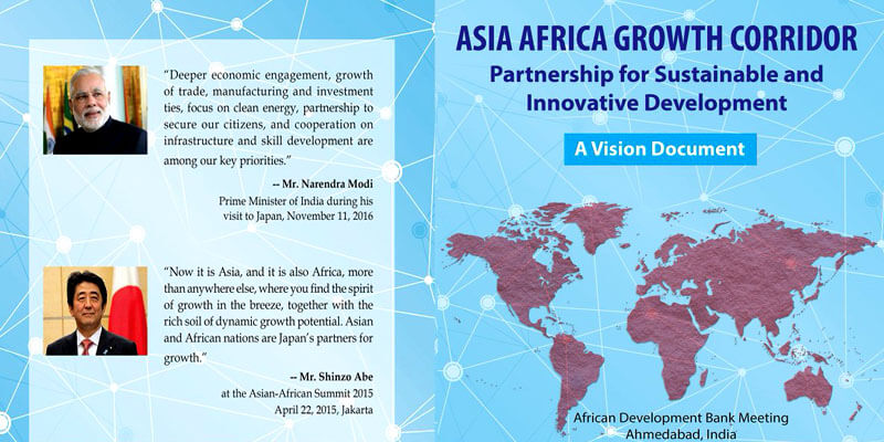 Map Of India And Africa.Asia Africa Growth Corridor Aagc A Game Changer Clearias