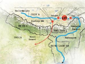 Chinese dams: lalho-zangmu-zam