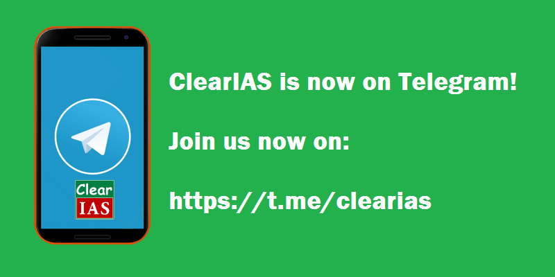 ClearIAS now on Telegram – Join ClearIAS Telegram channel for free studymaterials