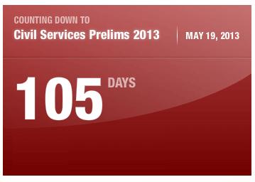 Count Down for Civil Services Prelims