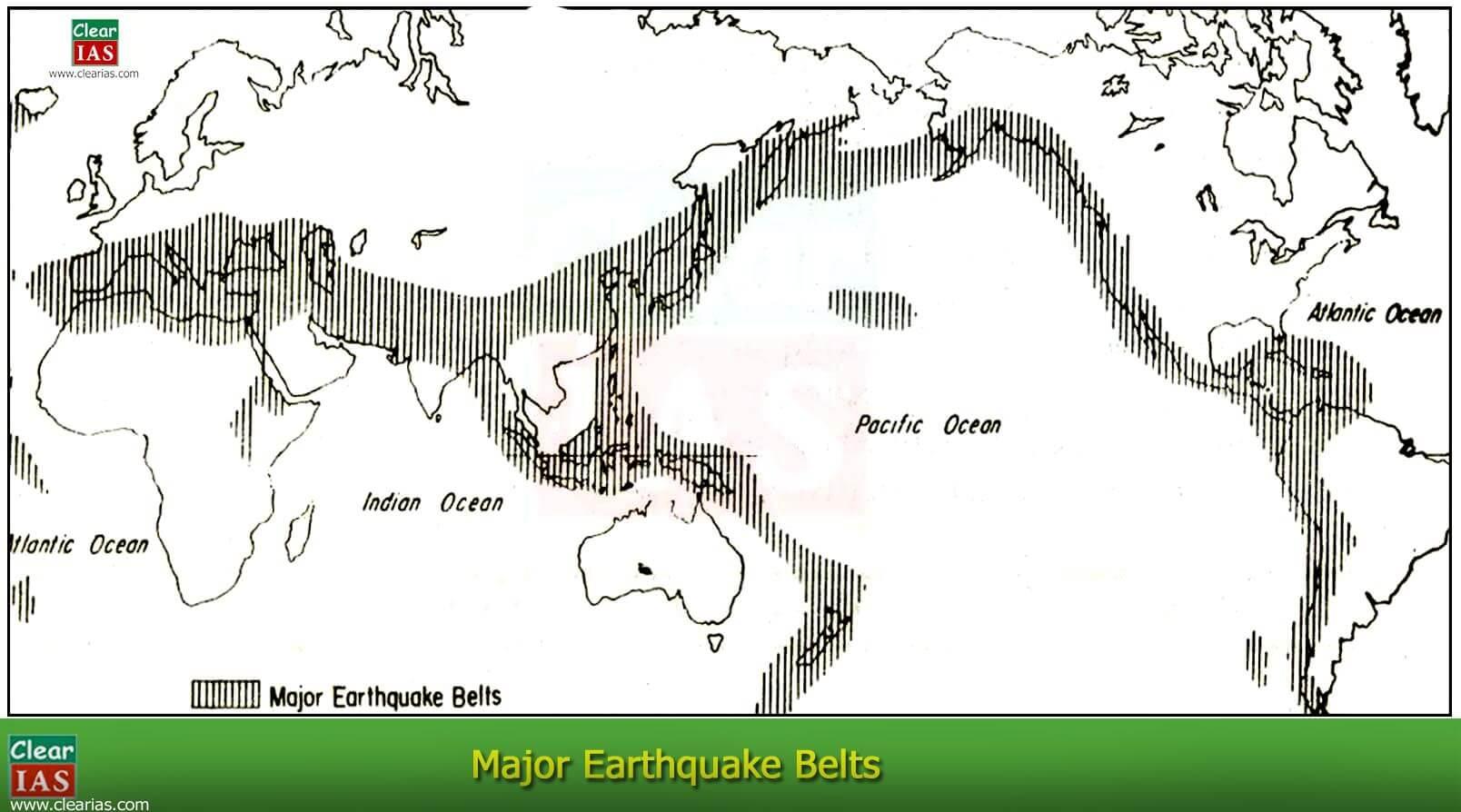 diagram of distribution of earthquake