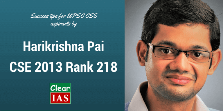 Harikrishna Pai (CSE 2013 Rank 218) UPSC Topper's Interview – Part 5