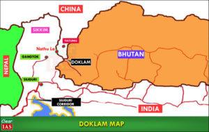 India-China-Doklam Map