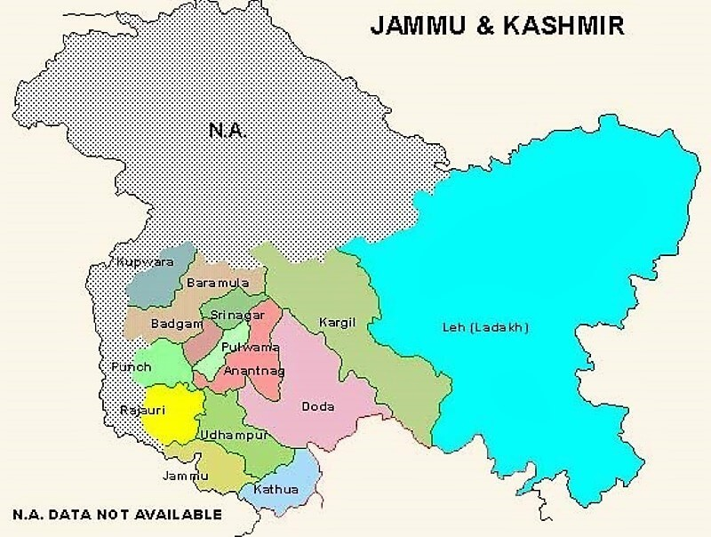 Kashmir Issue - Jammu Kashmir Map
