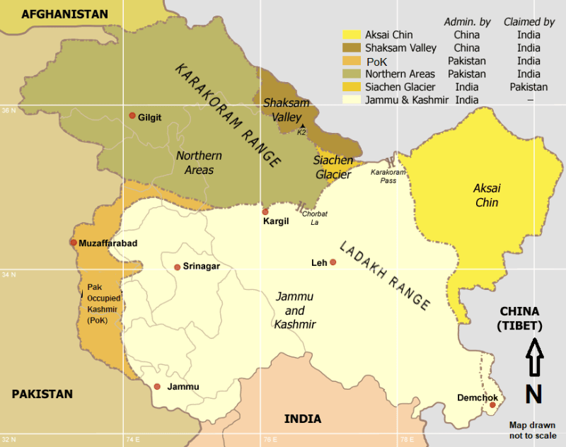 Kashmir Issue - Jammu and Kashmir Map