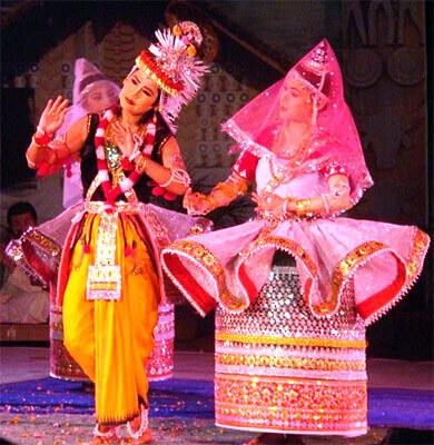 Manipuri dancers