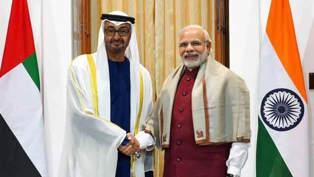 PM Modi and the Crown Prince of Abudhabi
