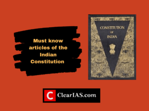 Must know articles of the Indian Constitution