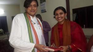 Renu Raj IAS with Shashi Tharoor MP