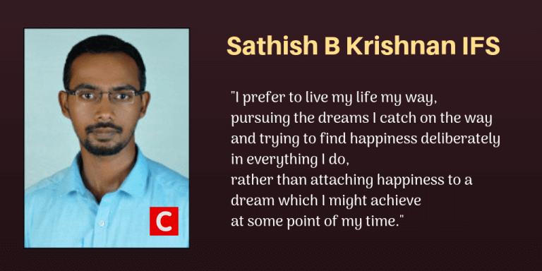 Sathish B Krishnan IFS Inspiring Quotes.