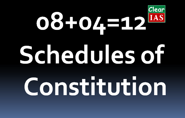 Schedules of Indian Constitution