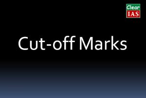 UPSC cut off marks