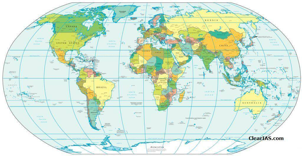 World map political clear iasg gumiabroncs Images