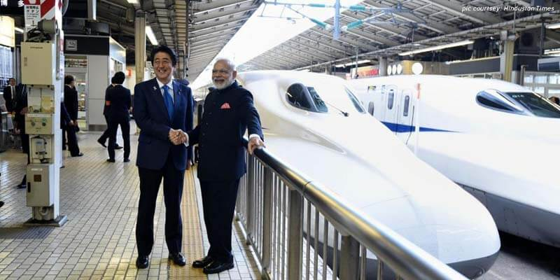 bullet trains in india-Abe-Modi