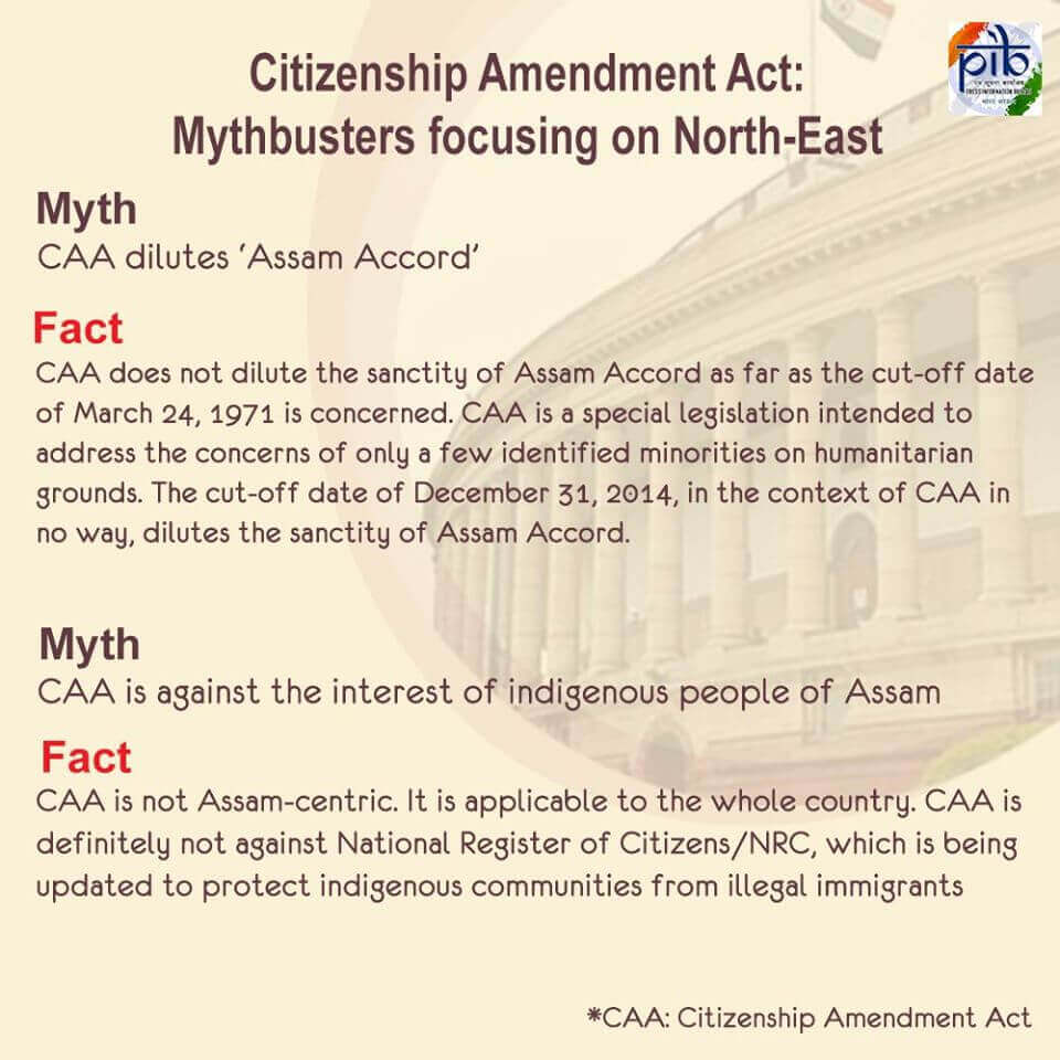CAA – Myths and Facts in Perspective of North-East