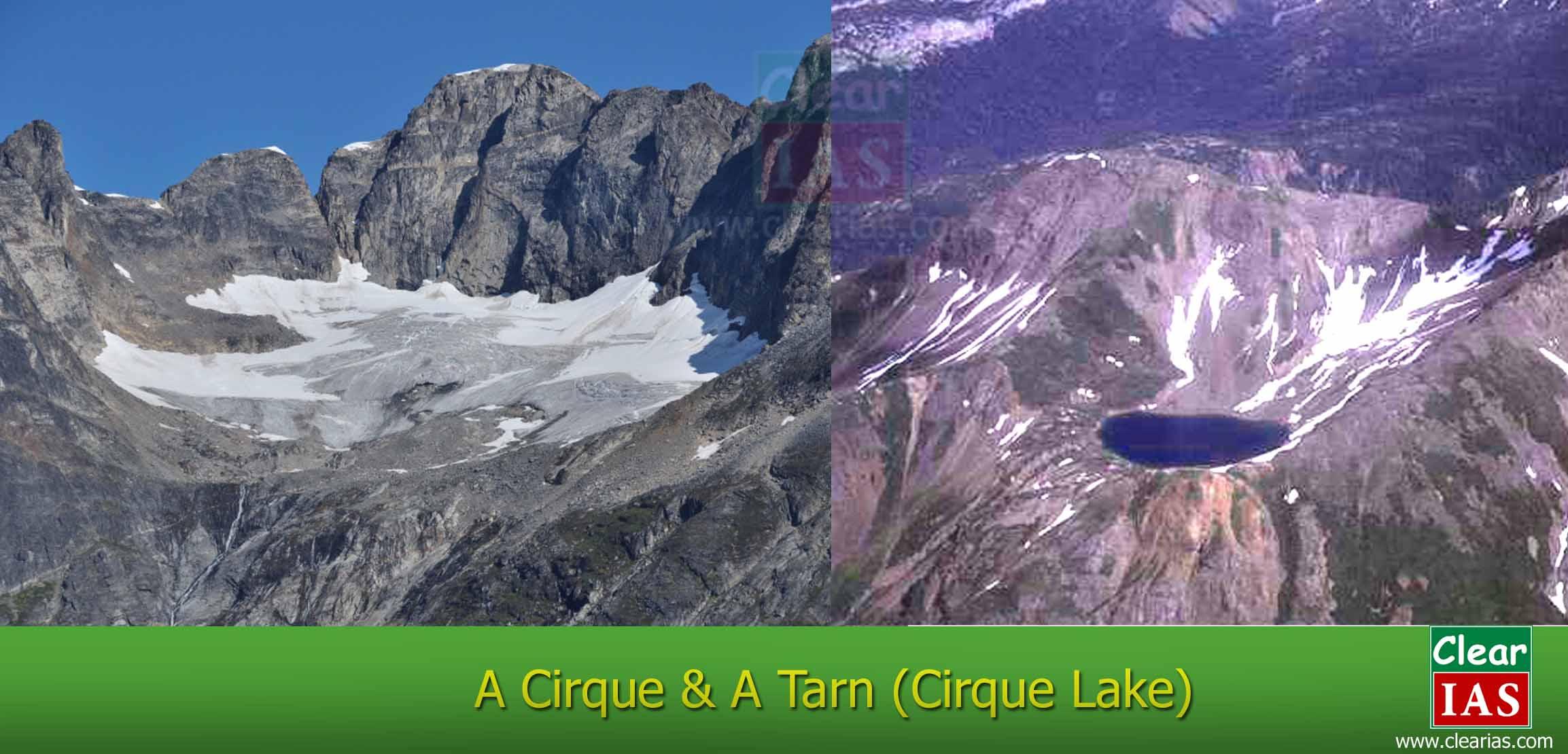 cirque- cirque lake - tarn lake