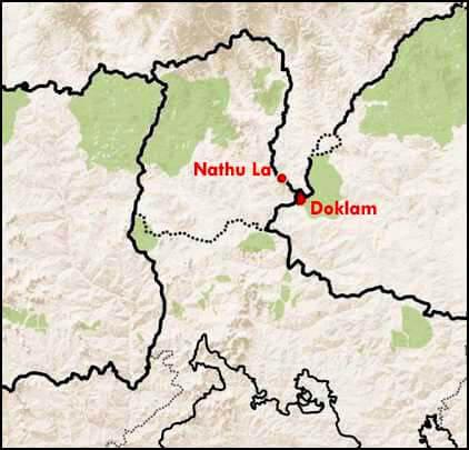 Doklam Map