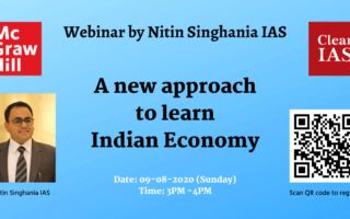 Webinar by Nitin Singhania IAS: 'A New Approach to Learn Indian Economy'