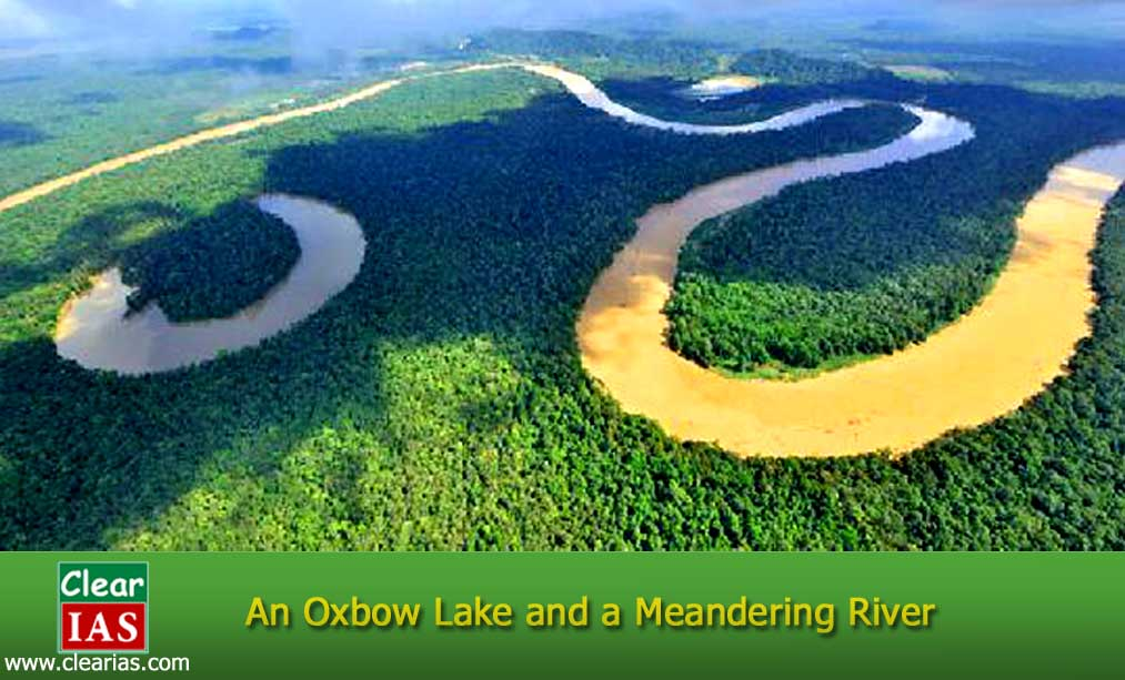 oxbow lake and a meander