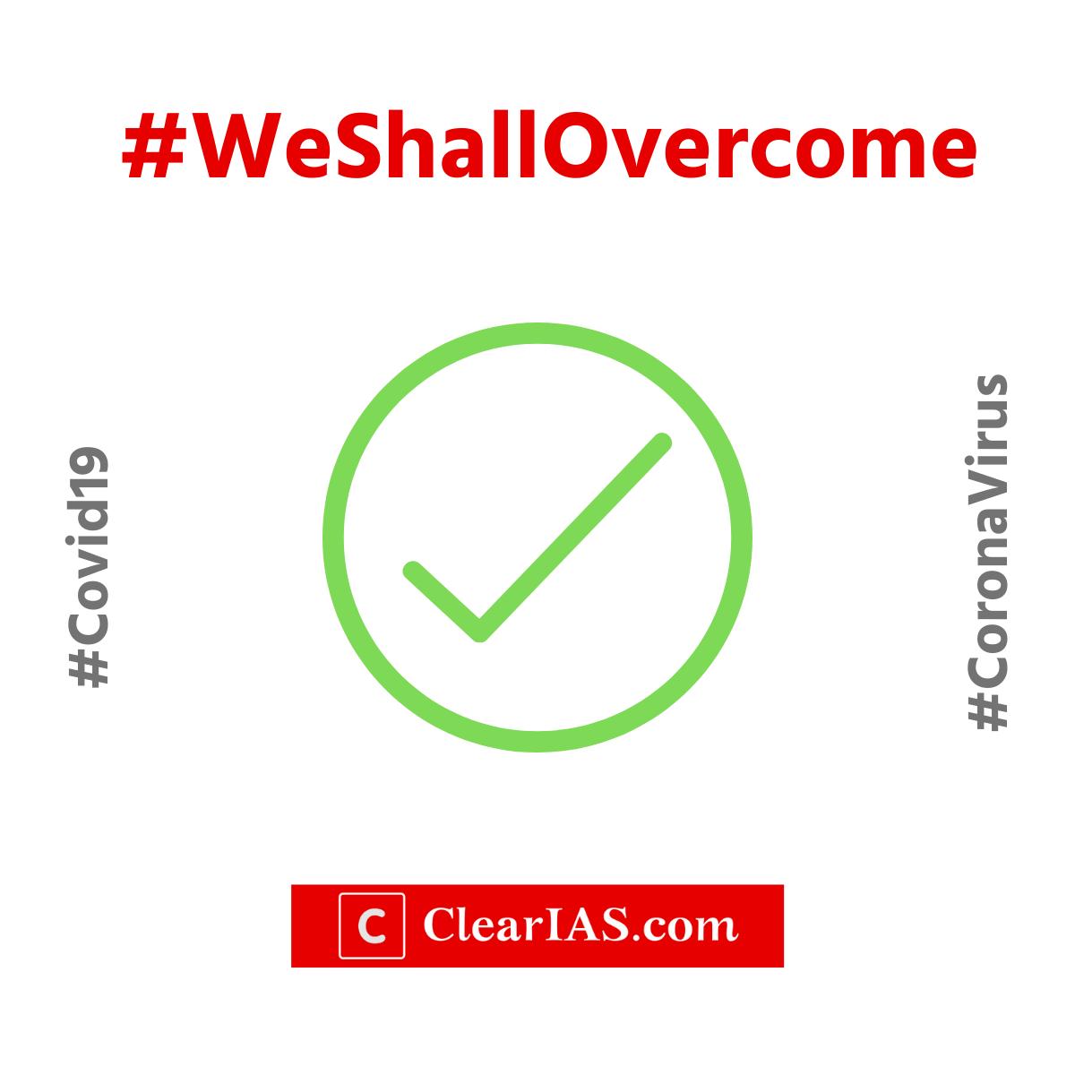 We shall overcome. We will overcome. #Covid19